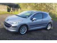 2007 Peugeot 207, petrol with 17inch alloys and MOT'd until June 2018, £1850 ono
