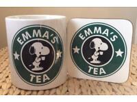 Personalised Snoopy's Coffee Mug & Coaster