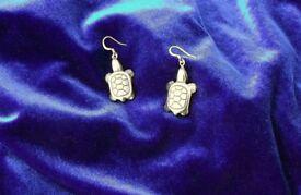 Native American Hematite 'Turtle' Earrings