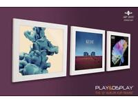 RRP £99 - BRAND NEW Art Vinyl Play and Display Record Frames x 3