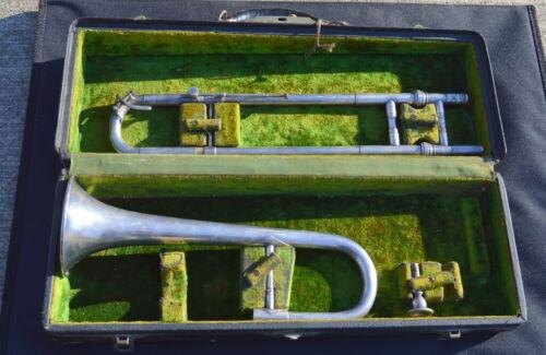 RARE 1920s C.G. Conn  Elkhart Ind. Wonder Slide Cornet/Alto Trombone #16A w/Case