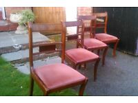 Vintage quality dining chairs x4
