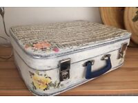 RETRO LEATHER SUITCASE /STORAGE BOX