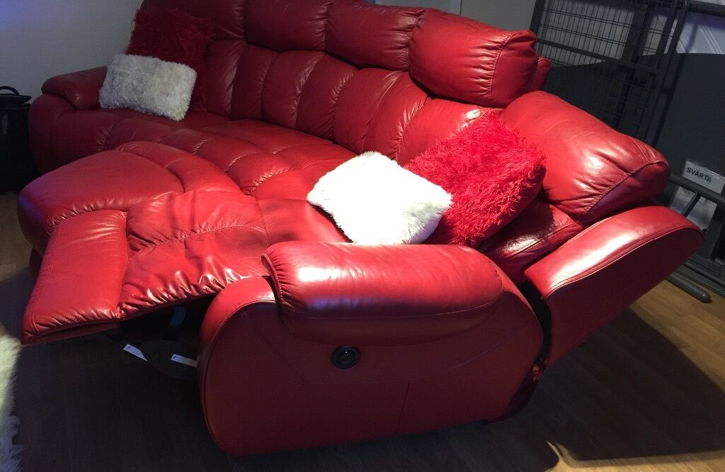 Dfs Red Curved Sofa | Baci Living Room