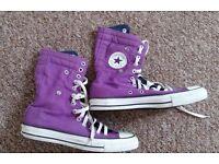 Ladies Purple Converse Size 6.