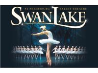 Swan Lake tickets x 2 in stall. 25th August 7-30pm. London Coliseum