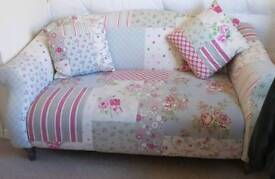 2 seater floral sofa