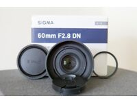 Sigma 60mm f2.8 sony E mount lens