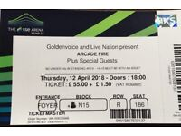 2 x Arcade Fire Tickets - Wembley Arena - Thursday 12th April