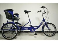 TREKIDOO -TRIKIDOO ADULT TRICYCLE TO CARRY TWO KIDS ON THE BACK - SUMMER SALE