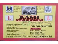 Driving Lessons - Manual AND Automatic - FEMALE INSTRUCTOR.