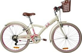 "(4515) 24"" B'TWIN POPLY 500 GIRLS HYBRID BIKE KIDS MOUNTAIN BICYCLE Age: 8-11, Height: 130-145 cm"