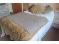 Used as Spare Bed - Divan Double Bed & Matress - 4ft 6