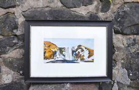 Giclee Print - FRAMED Skógafoss, Waterfall, Iceland -NEW