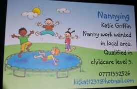 Looking for nanny work
