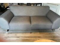 X2 GREY 3 SEATER SETTEES
