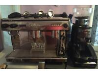 Expobar coffee machine with grinder