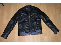 ASOS A BRAND NEW TRENDY VERY NICE LOOKING AND STYLISH MANS FAUX LETHER JACKET!