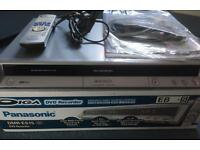 PANASONIC DVD Recorder - in original box, original leads, remote & instructions
