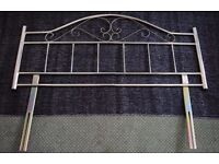 FOR FREE: Brass Effect / Metal (6ft x 4ft) Double Bed Headboard - COLLECTION ONLY