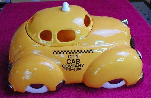 "Jamestown China (City Cab Company)  15"" YELLOW CABBIE COOKIE JAR"