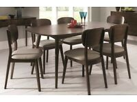 John Lewis Walnut 6 Seater Dining Table With 6 Chairs RRP £985.00 **NEW**
