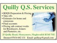Freelance Quantity Surveyor / Estimator: Mid Ulster (Magherafelt)
