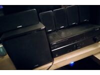 YAMAHA HTR 2064 Home cinema system with 5.1 speakers