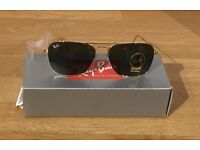 Genuine RayBan RB3136 Caravan Sunglasses - 55/Gold - Brand New