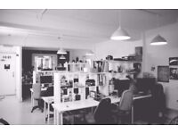 2 Desks available at Creative Blocks, From165.00 all Inc, On Kingsland rd,2 min from Haggerston st,