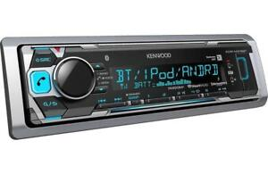 Kenwood KMR-M318BT Bluetooth Marine Audio Head Unit with AM/FM/USB and SiriusXM Satellite Ready