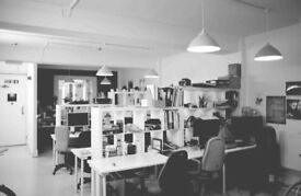 5 Desks available at Creative Blocks, From165.00 all Inc, On Kingsland rd,2 min from Haggerston st,