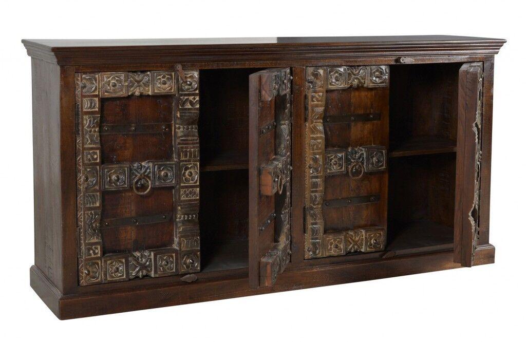 Kolonial Sideboard Schrank Kommode Almirah 180 cm recycling Holz ...