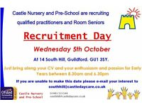 Recruitment Day for Qualified Practitioners and Room Seniors