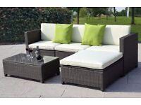 **FREE UK DELIVERY** Luxury Rattan Outdoor Garden Conservatory Corner Sofa- BRAND NEW!