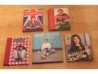 Five Excellent Quality Hard Back Cookery Books - Priced for a Quick Sale