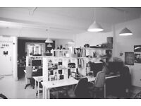 Desks available at Creative Blocks, 165.00 all Inc, 2 min from Haggerston station
