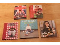 A Selection of 5 Hard Back Cookery Books