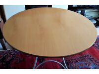 Round Folding Dining Table - Beech - 103cm / 41inches