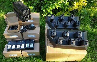 12x Motorola GP300 UHF radios with 6-way chargers, brand new single chargers