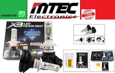 MTEC SET LED H7 X3 LED Cree Philips 6500K - 6000 lumen 12V Xenon Lights Car