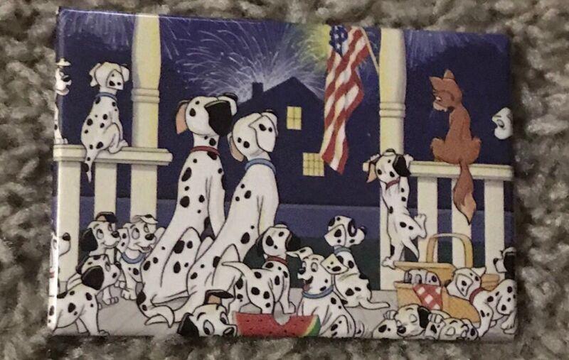 1992 Disney's 101 Dalmatians watching Fireworks Button