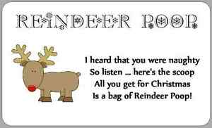 Reindeer Food Poem Labels Images & Pictures - Findpik