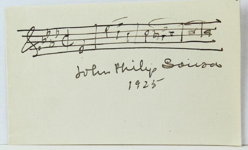 """John Philip SOUSA: """"Stars and Stripes Forever"""" - Autograph Musical Quotation"""