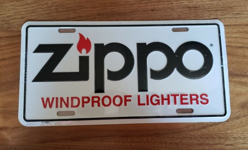 Zippo Windproof Lighters Brand New License Plate in Plastic Wrap
