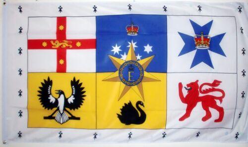 AUSTRALIAN ROYAL STANDARD 3 X 2 FEET FLAG Royalty Queen Elizabeth australia