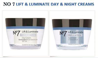 Lift Night Cream (Boots No 7 Lift + Luminate Triple Action Day Cream/Night SPF30 - 1.69oz )