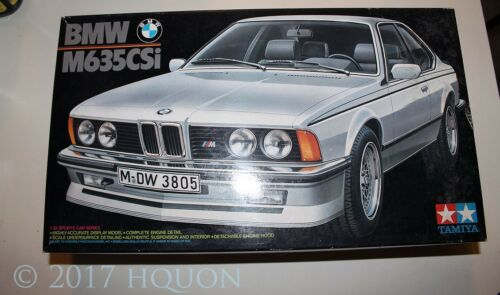 Tamiya 1:24 BMW M635Csi Opened Box Plastic Model Kit #24028