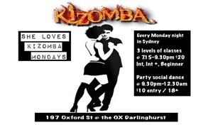 Learn Kizomba Dance in Sydney every Monday ! Sydney City Inner Sydney Preview