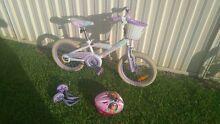 Girl Children's Bike + Training Wheels + Helmet Hunterview Singleton Area Preview